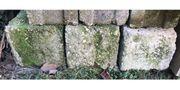 3x Betonklotz als Fundament Regenfass-Sockel
