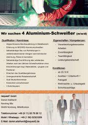 Wir suchen 7 Aluminium-Schweißer m