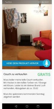 verschenke rot Orange ausgefallene Couch