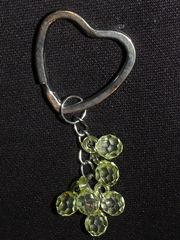 Herz-Schlüsselanhänger mit Perlen auch zu