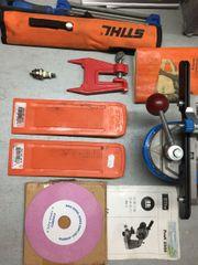 Motorsägeausrüstung