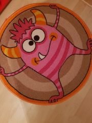Kinderzimmer Teppich Kids Monster rosa