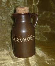 Leinöl Kännchen Henkelflasche - braun -