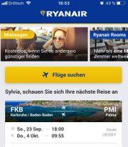 Ryanair Flug Baden-Baden Mallorca vom