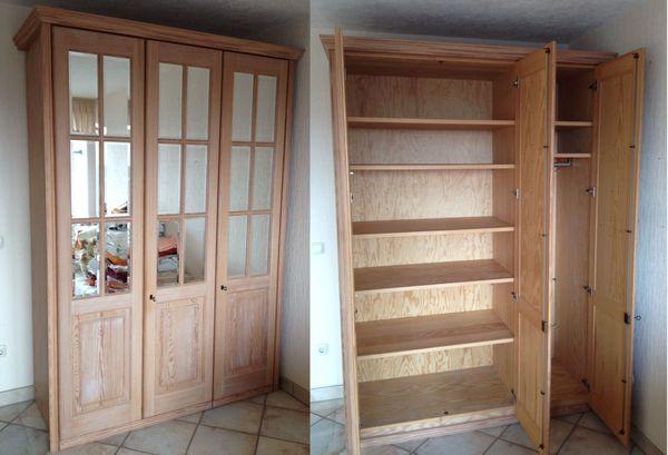 3 Türiger Schlafzimmerschrank Aus Massivholz Mit