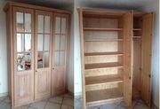 3-türiger Schlafzimmerschrank aus Massivholz mit