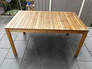 Gartenholztisch Neuwertig 90 x 150