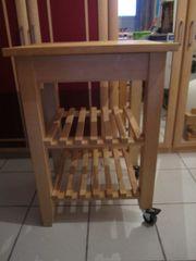 Küchenwagen aus natur Holz mit
