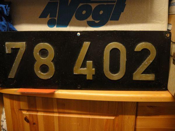 Dampflokschild BR 78