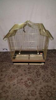 Verkaufe einen schönen goldfarbenen Vogelkäfig