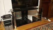 Moderner Fernsehtisch TV-Element Schwarz -Glas