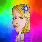 Karikatur Portrait Zeichnung im Comic