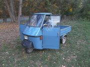 Ape 50 Piaggio graublau Tuktuk