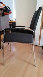 6 Esszimmer Stühle mit Kunstleder