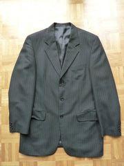 Anzug schwarz Nadelschreifen 3-Knopf Größe
