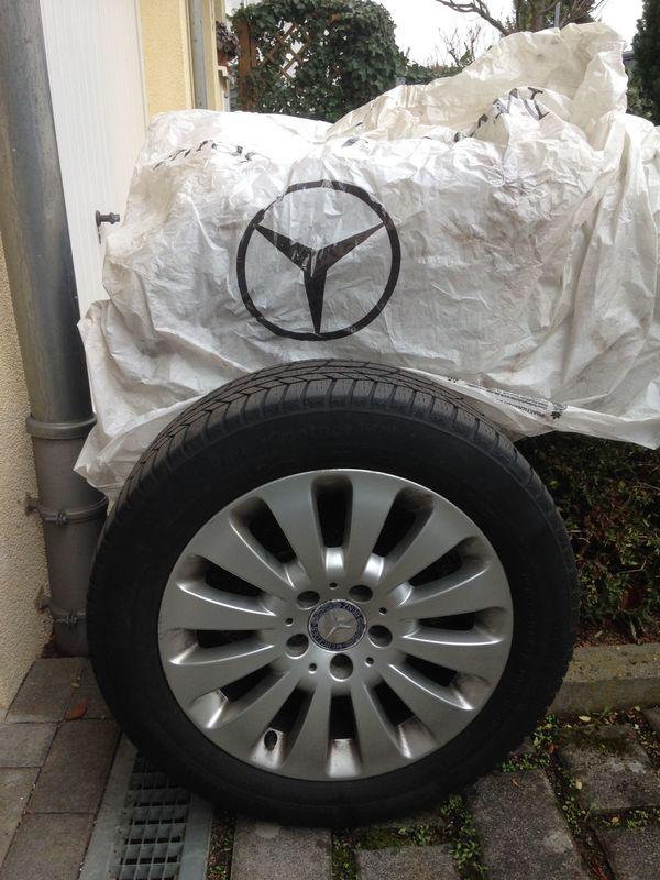 Winterreifen auf Alu-Felgen original Mercedes