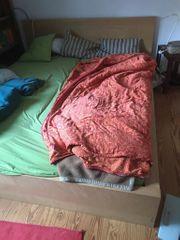 Bett Ikea Malm 160cm auf