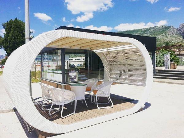 ELIPSE - Design Pavillon aus Rattan in Horgenzell - Sonstiges für ...