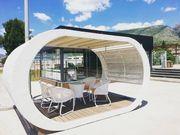 ELIPSE - Design Pavillon aus Rattan