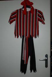 Piraten-Kostüm 4-teilig Gr 128 134