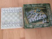 Glasschachspiel gebraucht, unbespielt