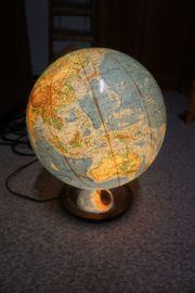 Globus Weltkugel aus Glas mit