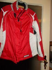 Skianzug 2teilig Jacke rotweiß Hose