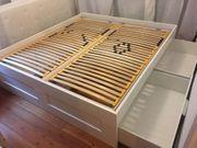 IKEA-BETT BRIMNES inkl 4 Schubladen
