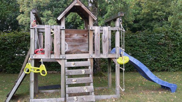 Klettergerüst Ohne Schaukel : Schaukeln rutschen spieltürme aus holz inkl lieferung montage