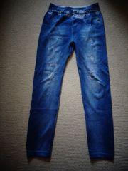 Leggins mit Jeansdruck