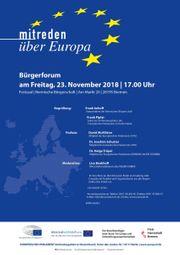 Bürgerforum Mitreden über Europa