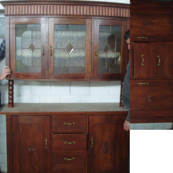 TOP - Vintage Vitrinenschrank - » Wohnzimmerschränke, Anbauwände