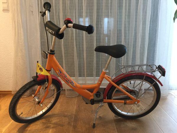Pucky ZL18 18 Zoll Alu - Eggenstein-leopoldshafen - Gebrauchtes Kinderfarrad orange-rot, Alurahmen, Vorder- und Ruecktittbremse. - Eggenstein-leopoldshafen