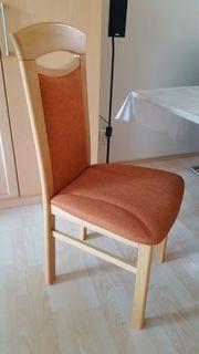 Sechs Esszimmerstühle Buche Holzstühle Massivholzstuhl