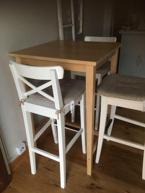 Ikea Bistrotisch Leksvik Barstühle Henriksdal - Sandhausen - Leichte Gebrauchsspuren. Wird nicht mehr benötigt, drum verkaufen wir es. - Sandhausen