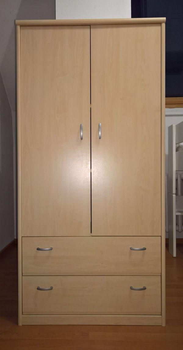Jugendzimmer In Ahorn Raumteiler Regalschrank Kleiderschrank