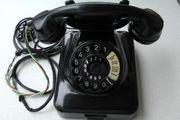Wählscheiben-Telefon W48 schwarz