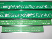 Schriftschablonen mit Aluschienen von NESTLER