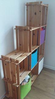 Stufen Holzregal