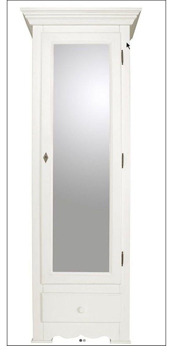 Garderobenschrank Schlafzimmerschrank Weiß Gewischt