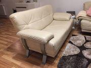 Leder Couch Garnitur 3 2