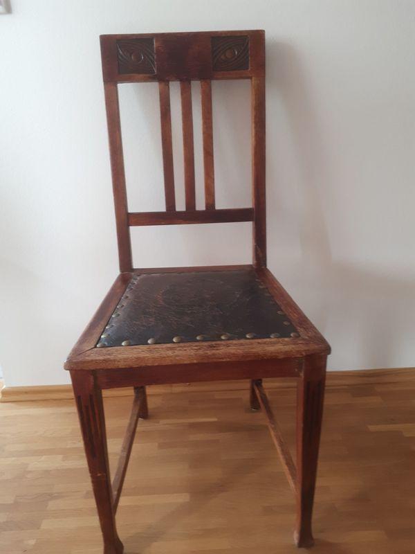 alter stuhl holz leder in hamburg polster sessel couch kaufen und verkaufen ber private. Black Bedroom Furniture Sets. Home Design Ideas