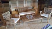 Sitzgruppe Holz 4