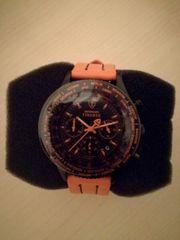 DETOMASO FIRENZE Chronograph black orange