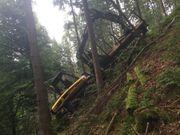 Forstmaschinen Rückezug Fahrer