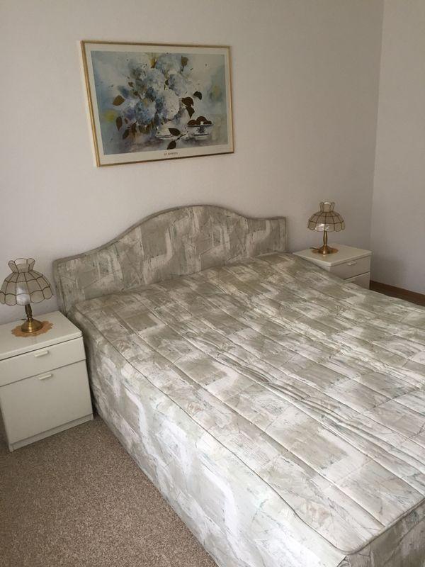 Bett Schrank schlafzimmer bett schrank nachttisch weiß hochglanz in heppenheim
