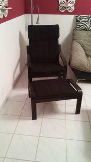 Sessel mit Hocker