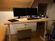 Schreibtisch - elektrisch höhenverstellbar neuwertig