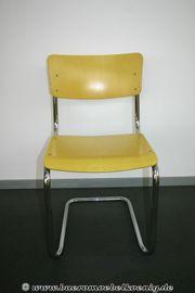 Stuhl Freischwinger in gelb von