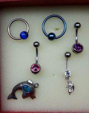Piercings Bauchnabel 5 Stück neu